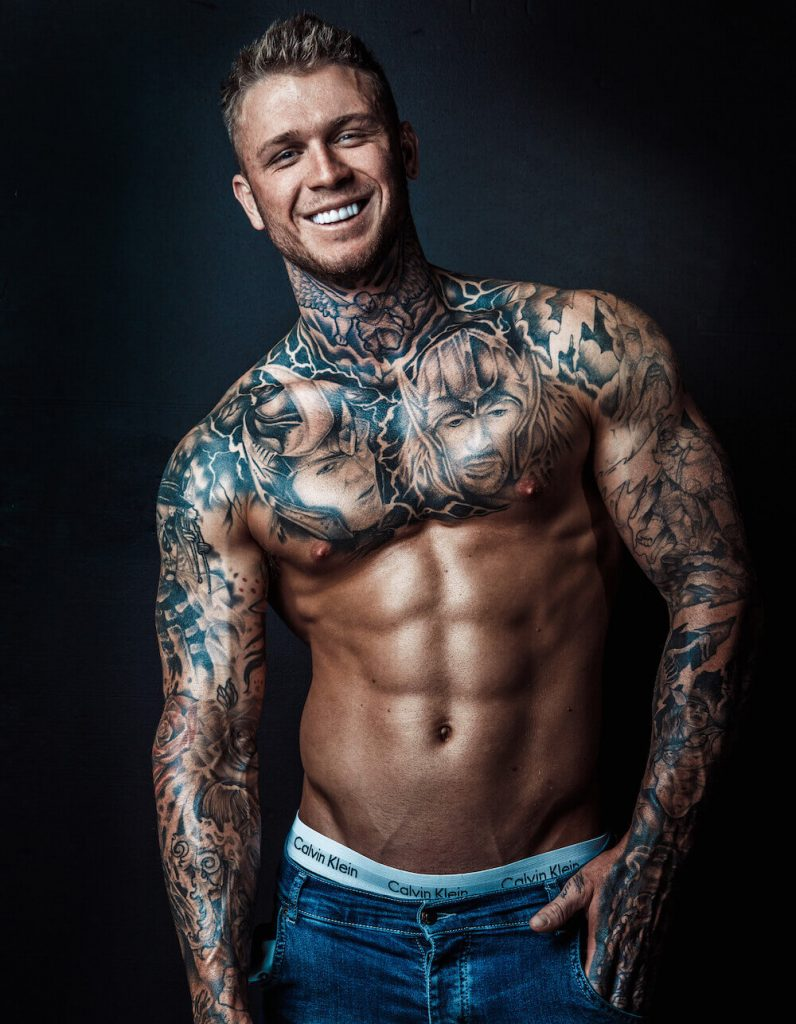 Kallym Tattooed Male Stripper