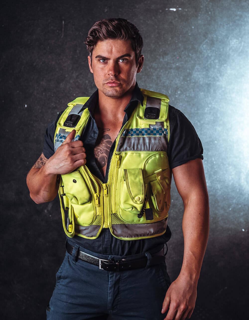 Policeman Stripper Zac
